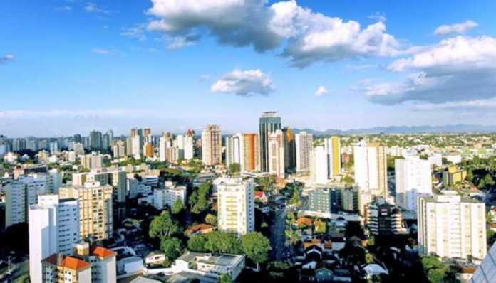 Vista da Cidade de Curitiba no Paraná