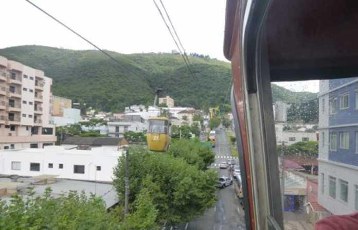 Foto do Teleférico, em Poços de Caldas