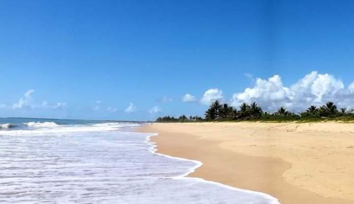 Praia Satu em Caraíva é uma das praias mais bonitas da Bahia