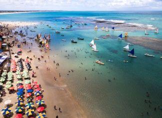 Vista aérea de Porto de Galinhas, Pernambuco.