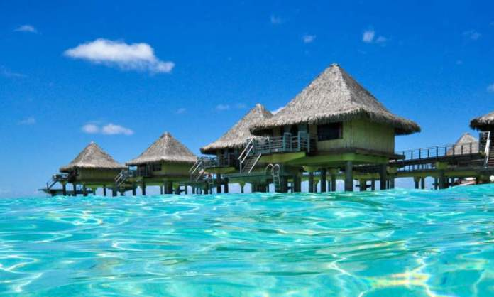 Overwater Bungalows do hotel InterContinental