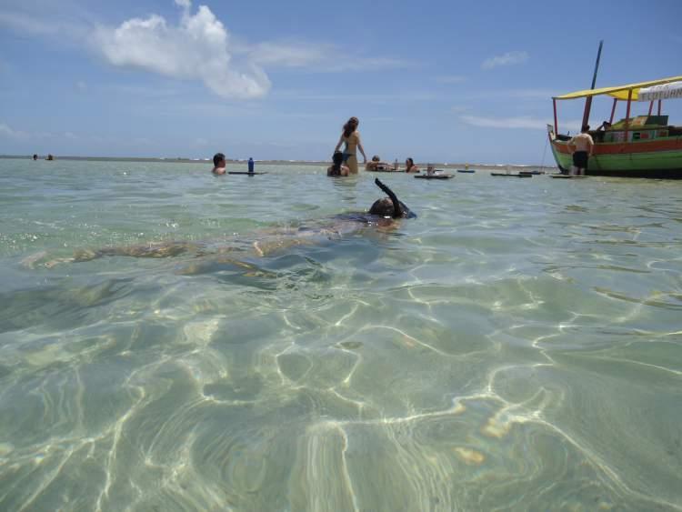 Passeio às piscinas naturais de Moreré na ilha de Boipeba na Bahia