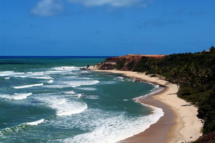 Praia da Pipa no Rio Grande do Norte é uma das praias mais bonitas do Brasil