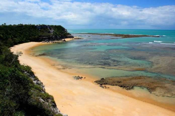 Praia do Espelho em Trancoso - Bahia é uma das praias mais bonitas do Brasil