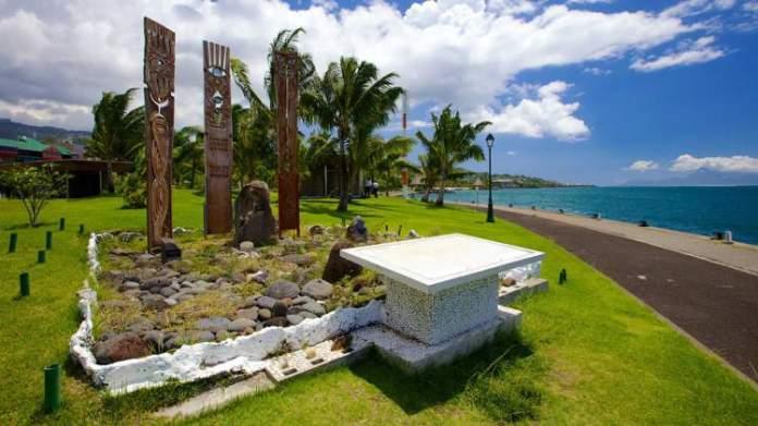 Parque Jacques Chirac é um dos pontos turísticos mais lindos do Tahiti