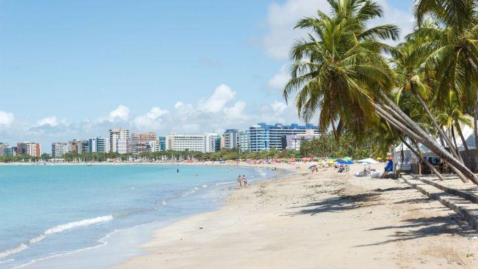 Vista de Ponta Verde em Maceió, Alagoas.
