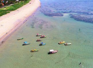 Praias da Laje e do Riacho em São Miguel dos Milagres, Alagoas.
