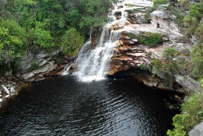 Cachoeira Poço do Diabo em Lençóis na Chapada Diamantina