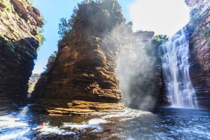 Cachoeira do Buracão em Mucugê na Chapada Diamantina