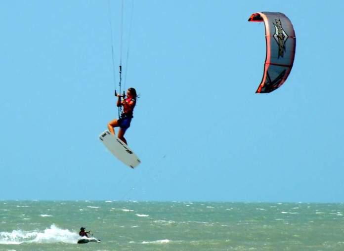 Esportes radicais no litoral do Piauí