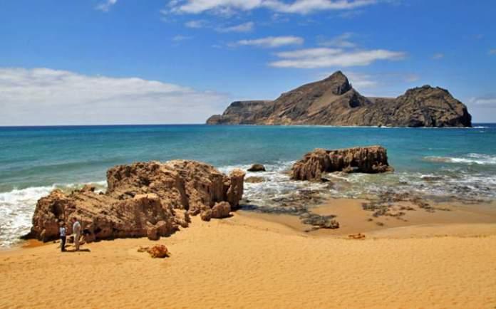 Porto Santo na Ilha da Madeira