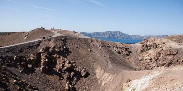 Santorini passeio para visitar o Vulcão Nea Kameni