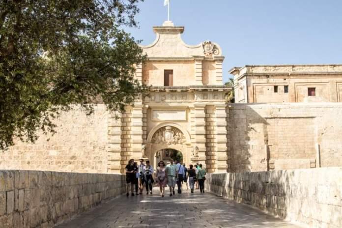 Mdina na ilha de Malta