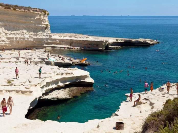 St. Petter's Pool na ilha de Malta