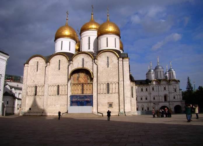 Catedral da Assunção é um dos pontos turísticos em Moscou