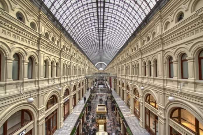 Shopping GUM é um dos pontos turísticos em Moscou