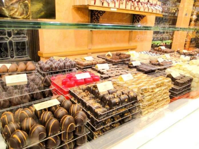 Chocolates em Bruxelas