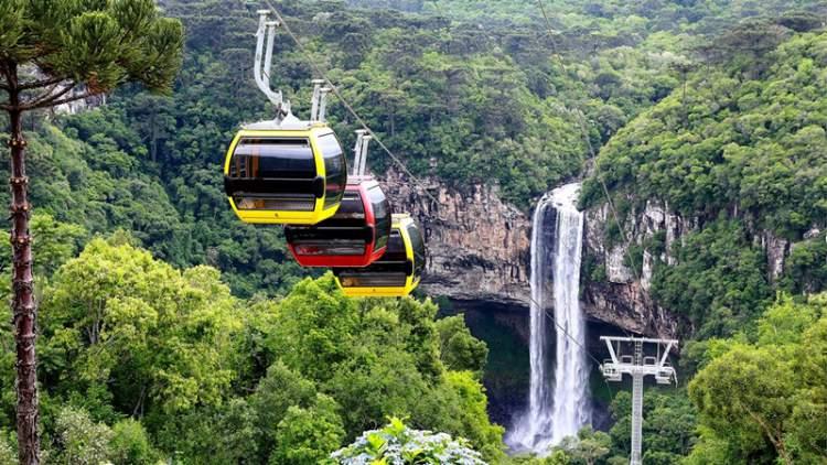 visitar os bondinhos aéreos nos parques da serra é uma das opções de o que fazer em Canela