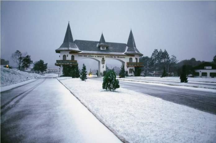 Gramado no Rio Grande do Sul é um dos lugares no Brasil que costumam nevar no Inverno
