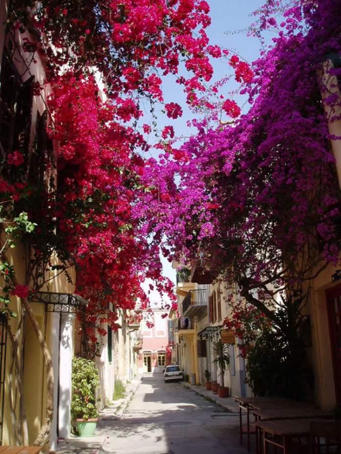 Nafplio na Grécia é um dos lugares que possui as mais belas ruas floridas do mundo