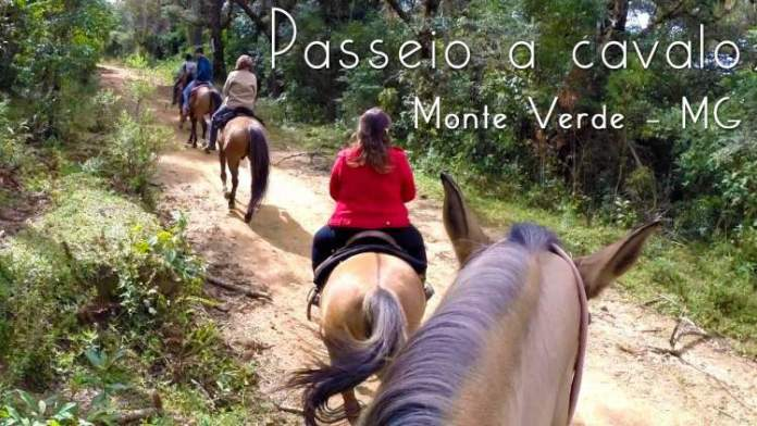 Passeios a cavalo é uma das atrações turísticas em Monte Verde