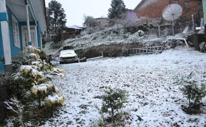 São Joaquim em Santa Catarina é um dos lugares no Brasil que costumam nevar no Inverno