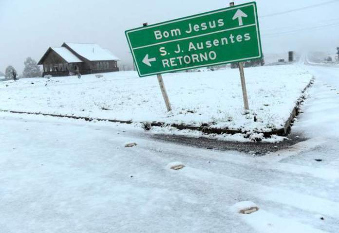 São José dos Ausentes no Rio Grande do Sul é um dos lugares no Brasil que costumam nevar no Inverno