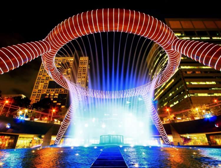 Fountain of Wealth é um dos pontos turísticos de Singapura