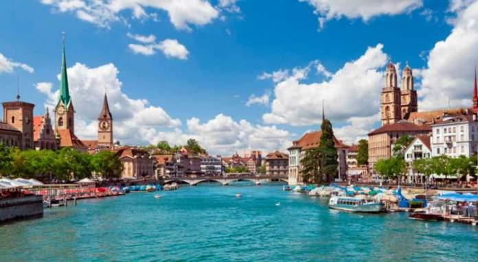 Zurique é um dos lugares na Suíça com paisagens deslumbrantes