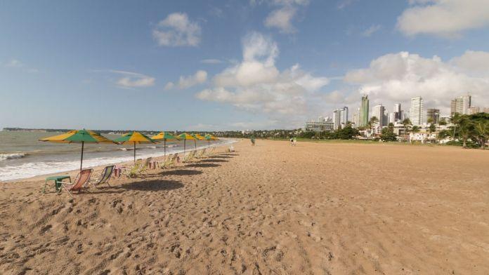 Praia de Cabo Branco em João Pessoa.