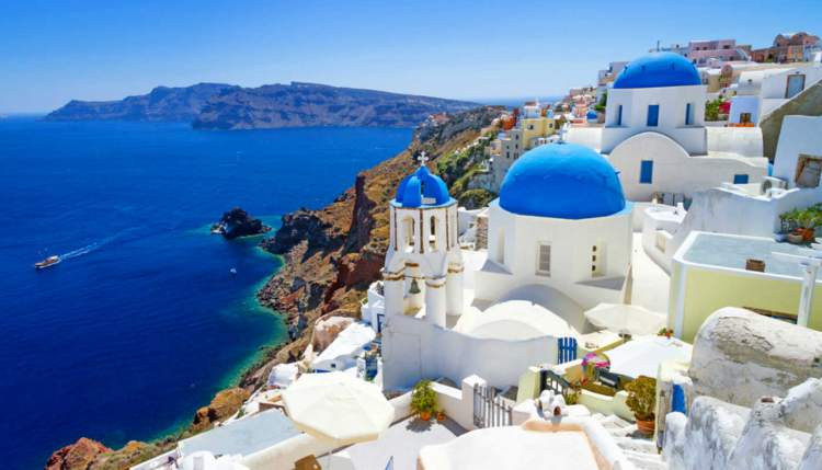 Santorini é uma das melhores ilhas gregas