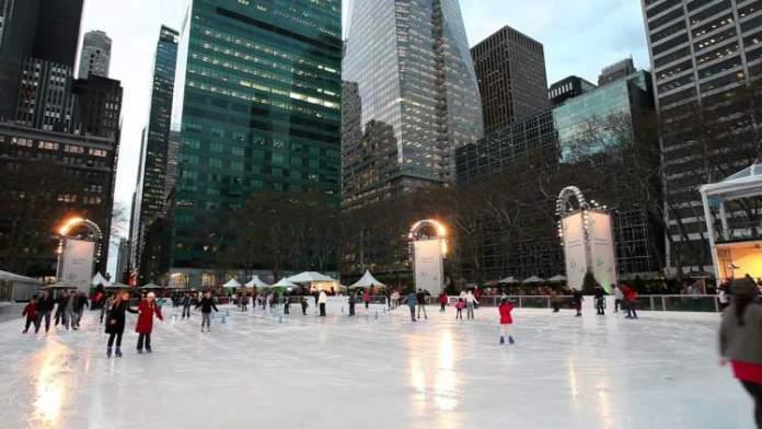Bryant Park é uma das atrações no inverno de Nova York