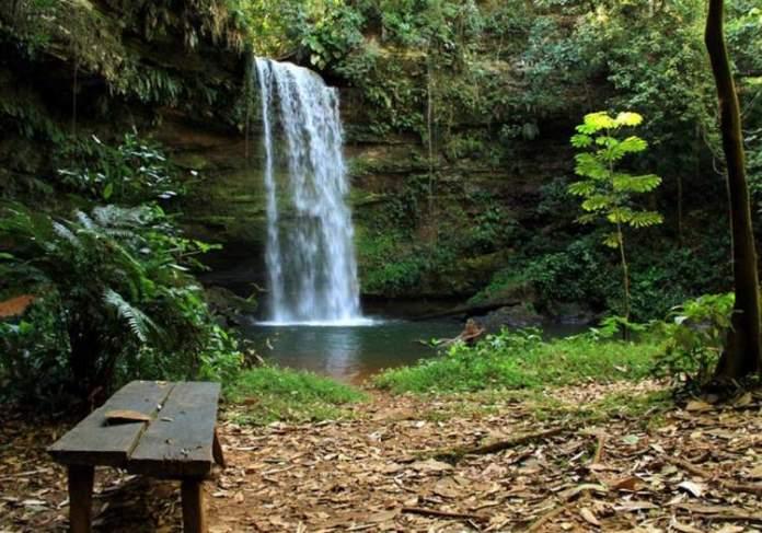 Cachoeira de Taquaraçu é um dos lugares impressionantes no Tocantins