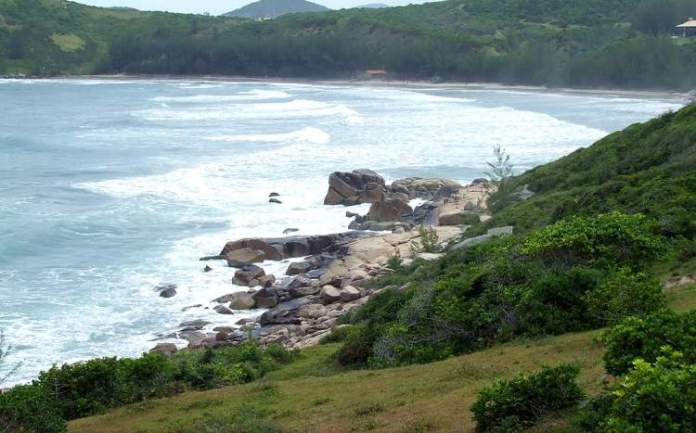 Praia Vermelha é uma das melhores praias de Imbituba