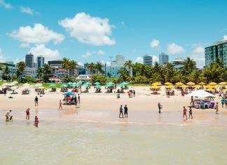 Vista da praia de Tambaú, a mais turística da cidade