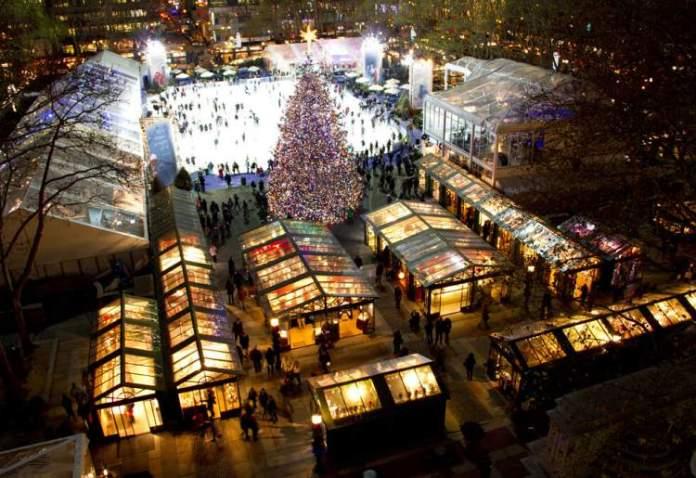 feira Columbus Circle Holiday Market é uma das atrações no inverno de Nova York