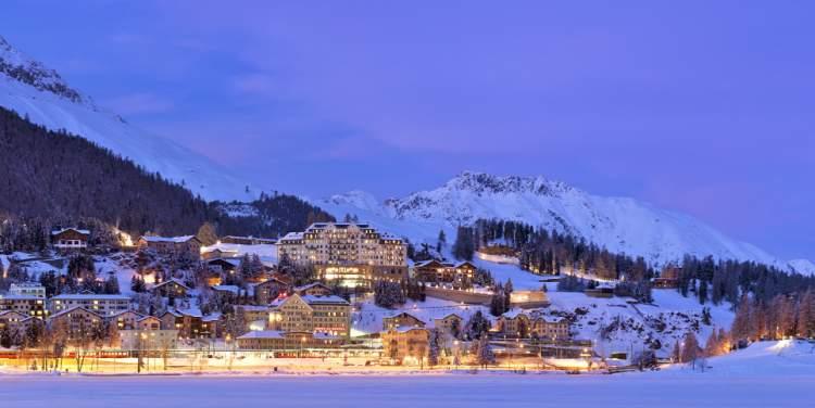 St. Moritz na Suíça é um dos melhores destinos para esquiar