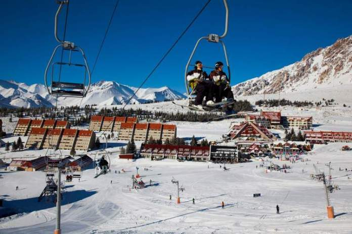 La Leñas na Argentina é um dos destinos de esqui na América do Sul