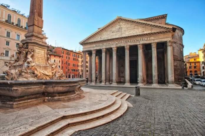 Panteão é uma das atrações gratuitas em Roma