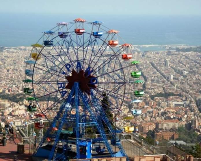 Parque do Tibidabo é uma das atrações gratuitas em Barcelona