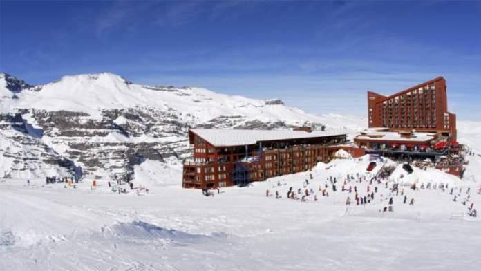 Valle Nevado no Chile é um dos destinos de esqui na América do Sul