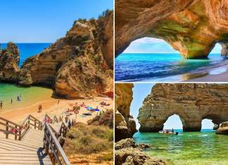 melhores praias do Algarve em Portugal