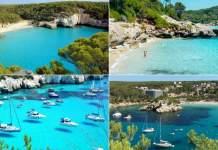praias de Menorca na Espanha