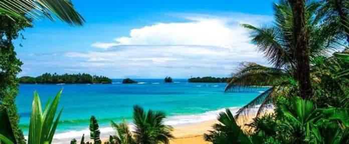 Praia de Red Frog é uma das melhores praias do Panamá