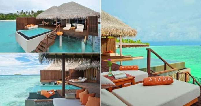 Ayada Maldives é um dos melhores hotéis nas Maldivas