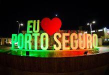 Letreiro - Eu Amo Porto Seguro - em Porto Seguro, Bahia.