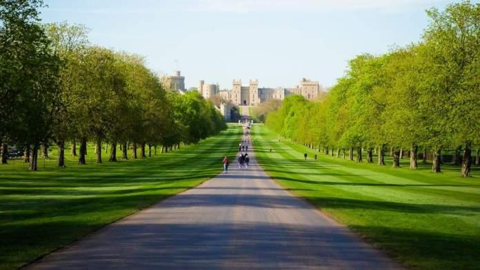 The Long Walk - Longa caminhada para o Castelo de Windsor, na primavera em Londres, Inglaterra.