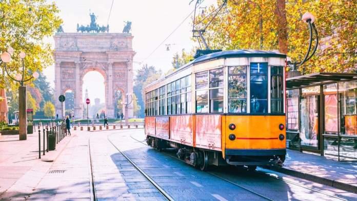 Bonde em Milão, Itália.