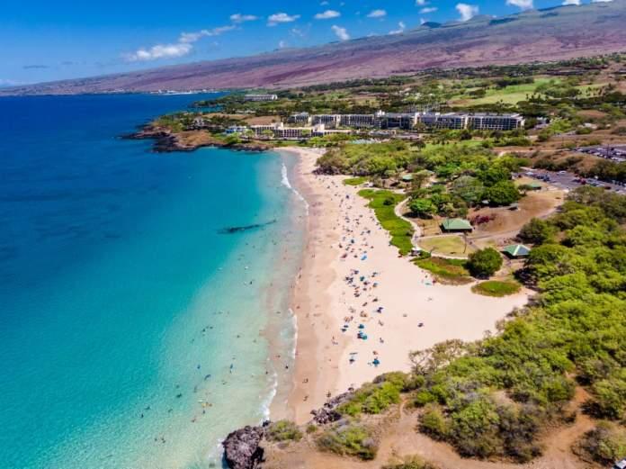 Hapuna Beach em Big Island, Havaí