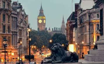 Cidade de Londres à noite